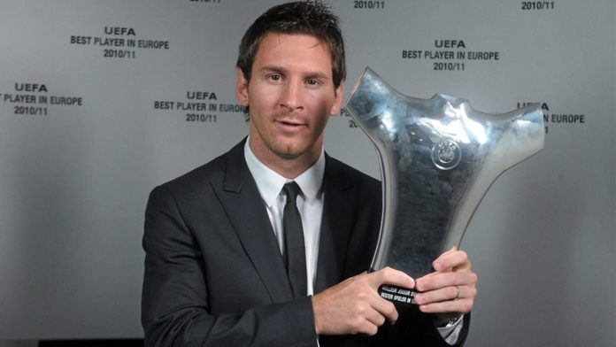 Lionel Messi wins 'Forward of the Season' award
