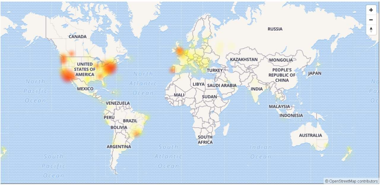 Instagram Outage Map