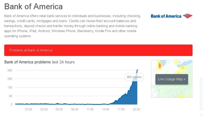 Bank of America Outage