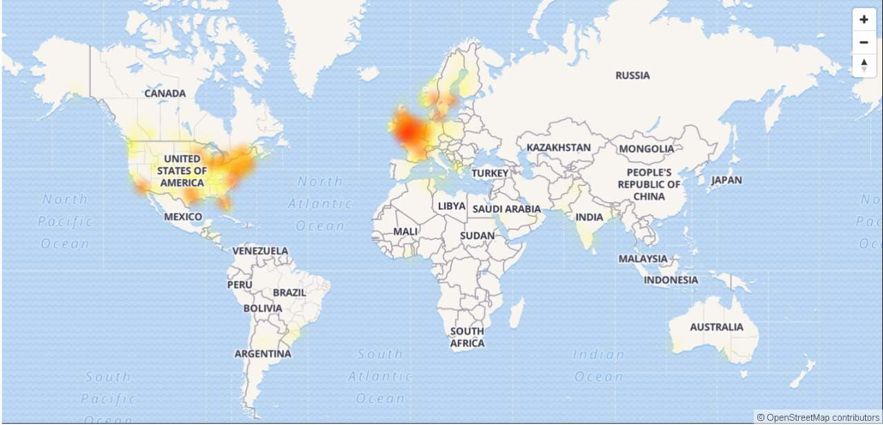 Snapchat Outage Map