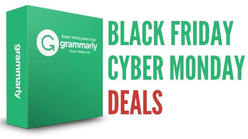 Grammarly Black Friday and Cyber Monday Deals