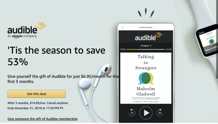 Audible Cyber Monday