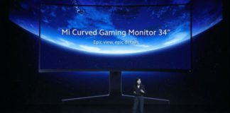 Xiaomi Launches 34-inch Mi Curved Gaming Monitor With WQHD Screen